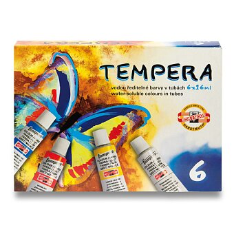 Obrázek produktu Temperové barvy Koh-i-noor 162547 - 6 barev, tuba 16 ml
