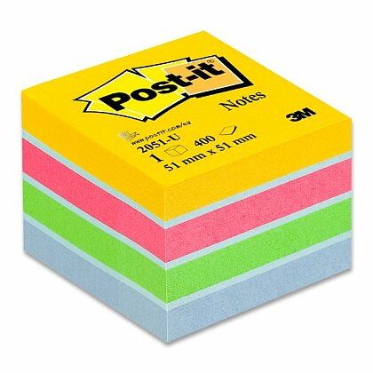 Obrázok produktu 3M Post-it 2051 - samolepiaca mini kocka - 51 × 51 mm, ultra-farba