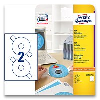 Etikety na CD/DVD Avery Zweckform