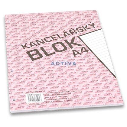 Obrázok produktu Bobo - lepený blok, dierovaný - A4, 50 l., linajkový