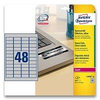Stříbrné Samolepicí PET etikety Avery Zweckform