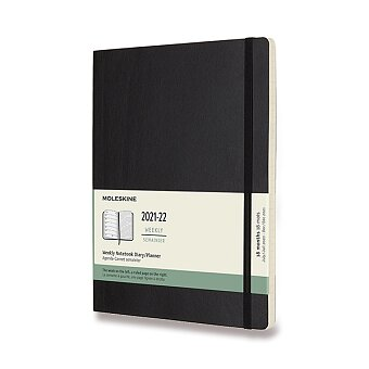 Obrázek produktu 18měsíční diář Moleskine 2021-22 - měkké desky - XL, týdenní, výběr barev