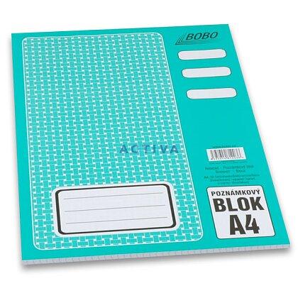 Obrázok produktu Bobo - lepený blok - A4, 50 l., štvorčekový