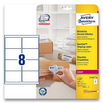 Obrázek produktu Bílé adresní etikety Avery Zweckform pro laserový tisk - 99,1 x 67,7 mm, 320 etiket, laser