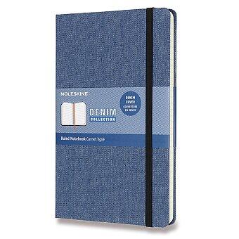 Obrázek produktu Zápisník Moleskine Denim - tvrdé desky - L, linkovaný, sv. modrý