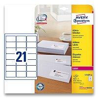 Bílé adresní etikety Avery Zweckform pro laserový tisk