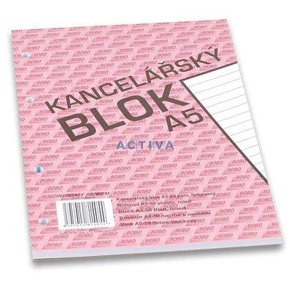 Obrázok produktu Bobo - lepený blok, dierovaný - A5, 50 l., linajkový