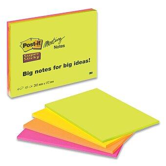 Obrázek produktu Samolepicí bloky 3M Post-it meeting - 200 x 149 mm, 4 x 45 listů