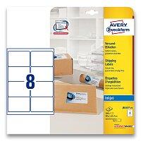 Bílé adresní etikety Avery Zweckform pro inkoustový tisk