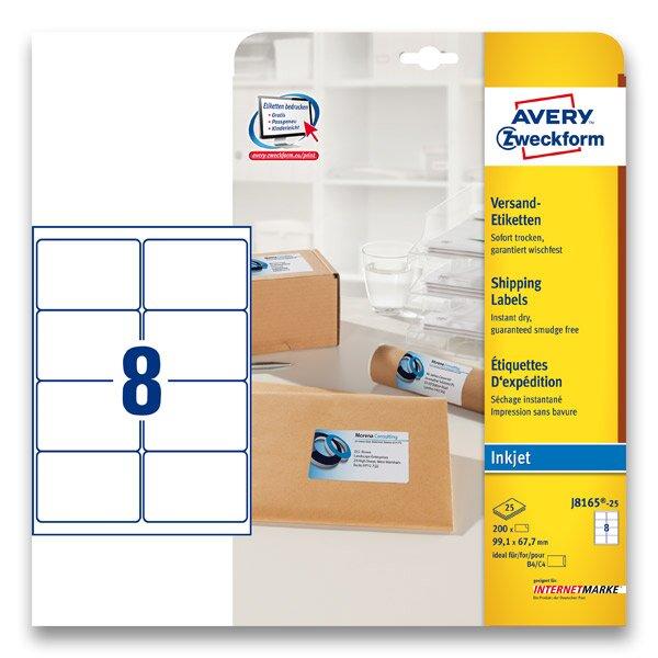 B l adresn etikety avery zweckform pro inkoustov tisk for 99 1 x 67 7 mm label template