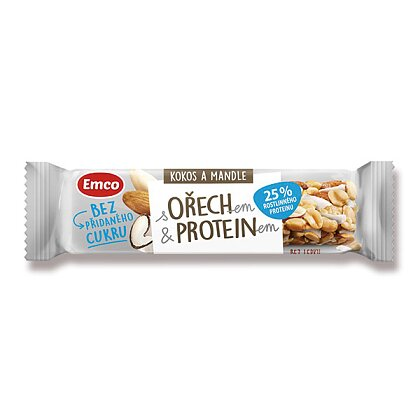 Product image Emco Walnut and Protein - bar - coconut and almonds, 35 g