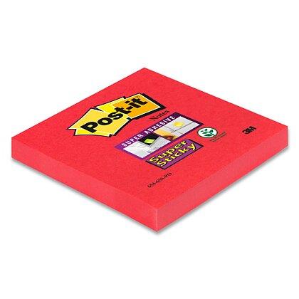 Obrázek produktu 3M Post-it 654 Super Sticky - silně lepicí bloček - 76 x 76 mm, 90 l., růžovočervený