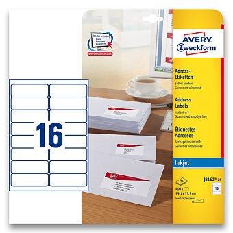 Obrázek produktu Bílé adresní etikety Avery Zweckform pro inkoustový tisk - 99,1 x 33,9 mm, 400 etiket, inkjet