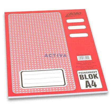 Obrázok produktu Bobo - lepený blok - A4, 50 l., linajkový
