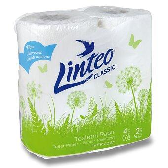 Obrázek produktu Toaletní papír Linteo - 2 - vrstvý, 150 útržků, návin 15 m, 4 ks