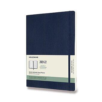 Obrázek produktu 18měsíční diář Moleskine 2021-22 - měkké desky - XL, týdenní, modrý