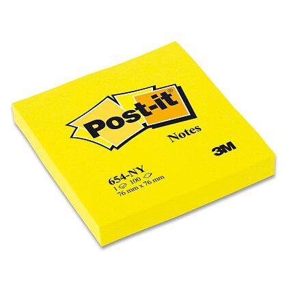 Obrázek produktu 3M Post-it 654NY - samolepicí bloček - 76x76 mm, 100 l., žlutý