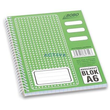 Obrázok produktu Bobo blok - krúžkový blok - A6, 50 l., štvorčekový