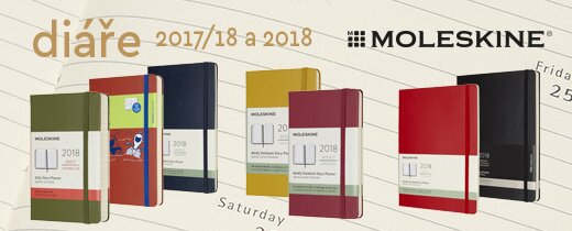 Diáře Moleskine 2018