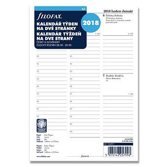 Obrázek produktu Týdenní kalendář 2018 - náplň A5 k diářům Filofax