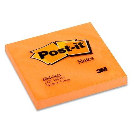 Obrázek produktu 3M Post-it 654PO - samolepicí bloček - 76x76 mm, 100 l., oranžový