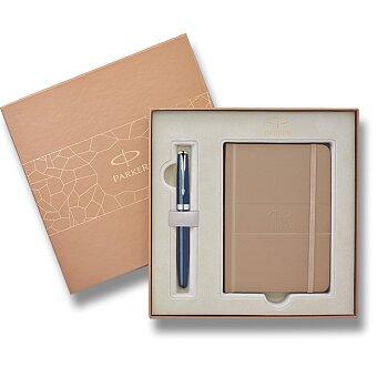 Obrázek produktu Parker Sonnet Secret Shell Blue CT - plnicí pero, dárková sada se zápisníkem