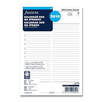 Obrázek produktu Denní kalendář 2018 - náplň A5 k diářům Filofax