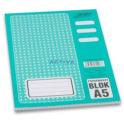 Obrázok produktu Bobo - lepený blok - A5, 50 l., štvorčekový