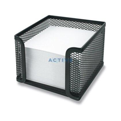 Obrázok produktu Metall Box - kovový zásobník na poznámkové lístky - 10,5 × 10,5 × 8 cm, čierny - 10,5 × 10,5 × 8 cm, čierny
