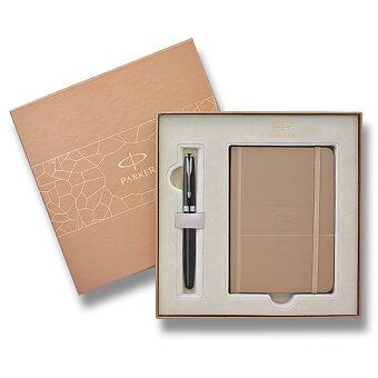 Obrázek produktu Parker Sonnet Secret Shell Black CT - plnicí pero, dárková sada se zápisníkem