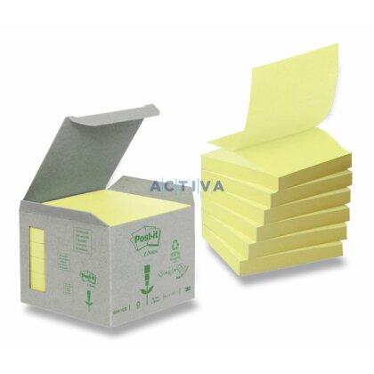 Obrázok produktu 3M Post-it R-330 - recyklovaný samolepiaci bloček - 76 × 76 mm, 6 x 100 l., žltý
