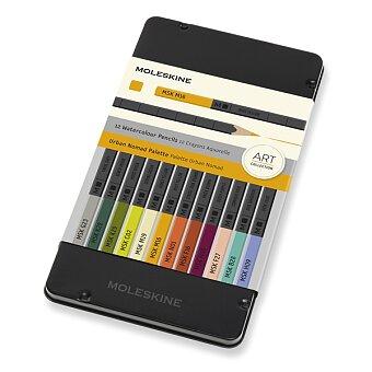 Obrázek produktu Akvarelové pastelky Moleskine - kovový box - pastelové, 12 ks