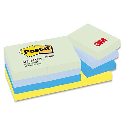 Obrázek produktu 3M Post-it 653 Pastel - samolepicí bloček - 38×51 mm, Mint