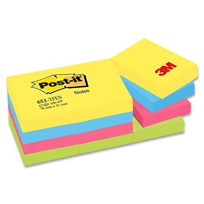 Obrázek produktu 3M Post-it 653 Pastel - samolepicí bloček - 38×51 mm, Tutti Frutti