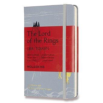 Obrázek produktu Zápisník Moleskine Lord Of Rings - tvrdé desky - S, linkovaný, šedý
