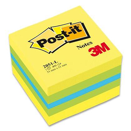 Obrázek produktu 3M Post-it 2051L - samolepicí mini kostka  - 51×51 mm, citrónová