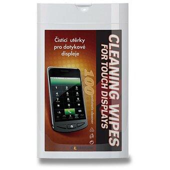 Obrázek produktu Vlhké čisticí utěrky na obrazovky Clenium Cleaning Wipes - dóza, 100 ks