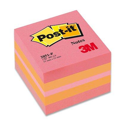 Obrázek produktu 3M Post-it 2051P - samolepicí mini kostka  - 51×51 mm, růžová