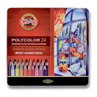 Obrázek produktu Umělecké pastelky Koh-i-noor Polycolor 3824 - plechová krabička, 24 barev