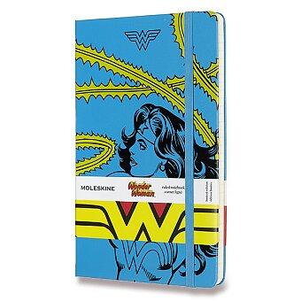 Obrázek produktu Zápisník Moleskine Wonder Woman - tvrdé desky - L, linkovaný, modrý