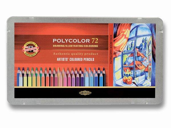 Umělecké pastelky Koh-i-noor Polycolor 3827 plechová krabička, 72 barev KOH-I-NOOR