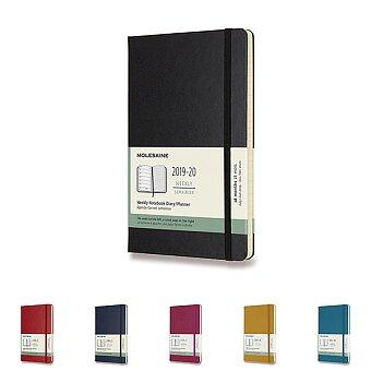 Obrázek produktu 18měsíční diář Moleskine 2019-20 - tvrdé desky - L, týdenní, výběr barev