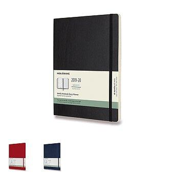 Obrázek produktu 18měsíční diář Moleskine 2019-20 - měkké desky - XL, týdenní, výběr barev