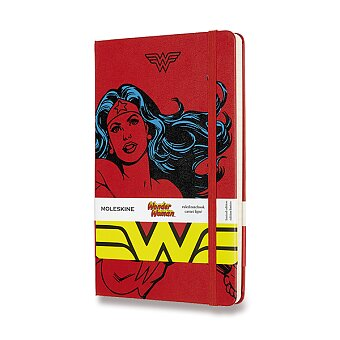 Obrázek produktu Zápisník Moleskine Wonder Woman - tvrdé desky - L, linkovaný, červený