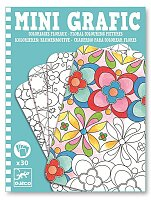Mini grafic Djeco - Květinové omalovánky