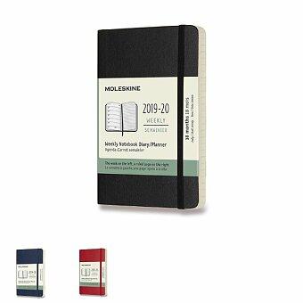 Obrázek produktu 18měsíční diář Moleskine 2019-20 - měkké desky - S, týdenní, výběr barev