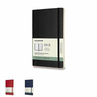 Obrázek produktu 18měsíční diář Moleskine 2019-20 - měkké desky - L, týdenní, výběr barev