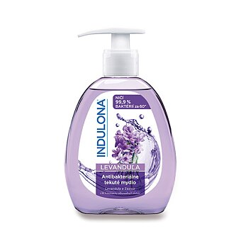 Obrázek produktu Antibakteriální tekuté mýdlo Indulona Levandule se zázvorem - 300 ml