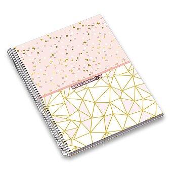 Obrázek produktu Kroužkový blok Ambar Marshmallow - A4, linkovaný, 120 listů, mix motivů