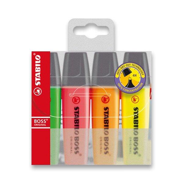 Zvýrazňovač Stabilo Boss Original sada 4 barev